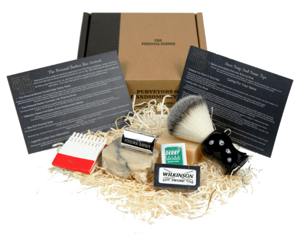The Personal Barber shaving subscription box
