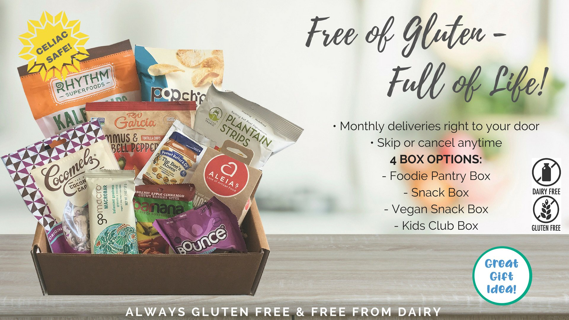 100 gluten and dairy free monthly delivery celiac safe negle Images