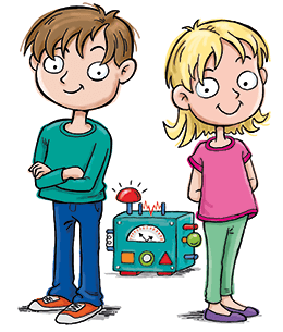 Educational subscription box for kids - Max and Katie characters