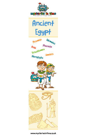 Max and Katie Ancient Egypt-themed bookmark
