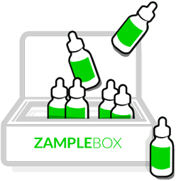 Receive box & Zample Different juices