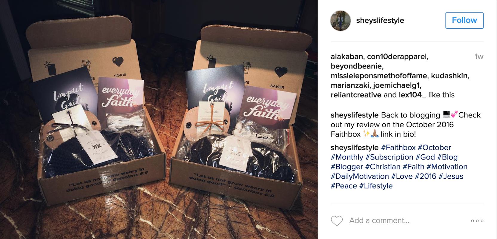 Join our community on Instagram and use #Faithbox & Faithbox - Faithbox A Monthly Christian Subscription Box