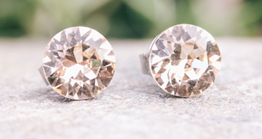 Ava rose gold stud earrings