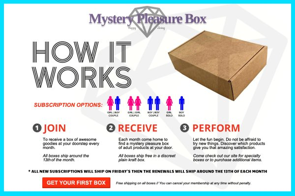 Mystery sex toy box