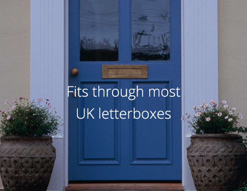 UK front door and letterbox