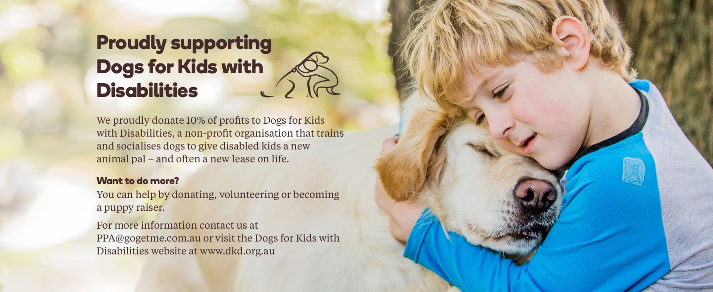 Proudly supporting Dogs for Kids with Disabilities