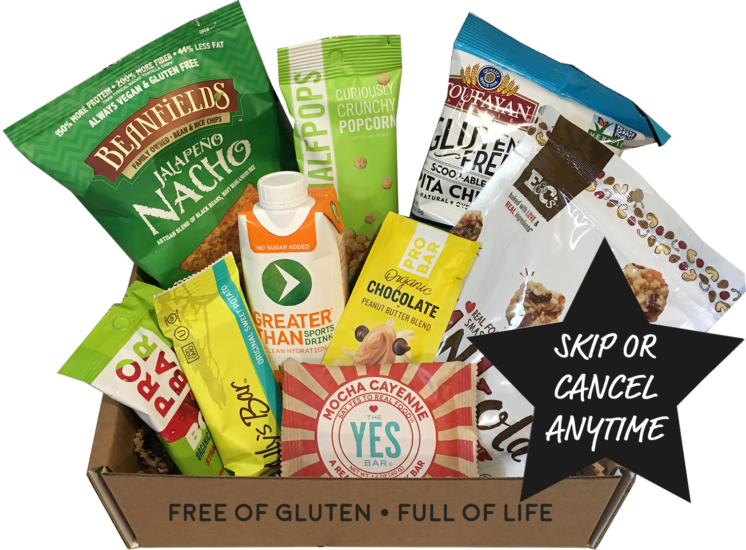 Celiac safe gluten free snack box home delivery month to month 2495month negle Images
