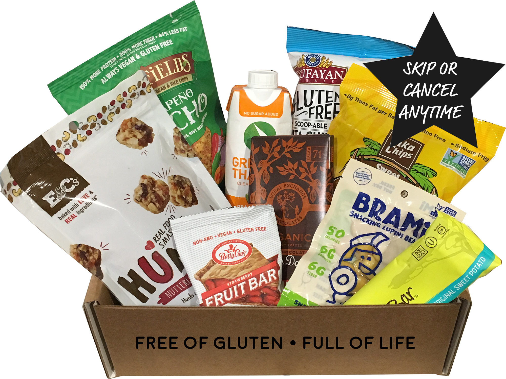 Vegan snack box gluten free monthly subscription month to month 2495month negle Gallery