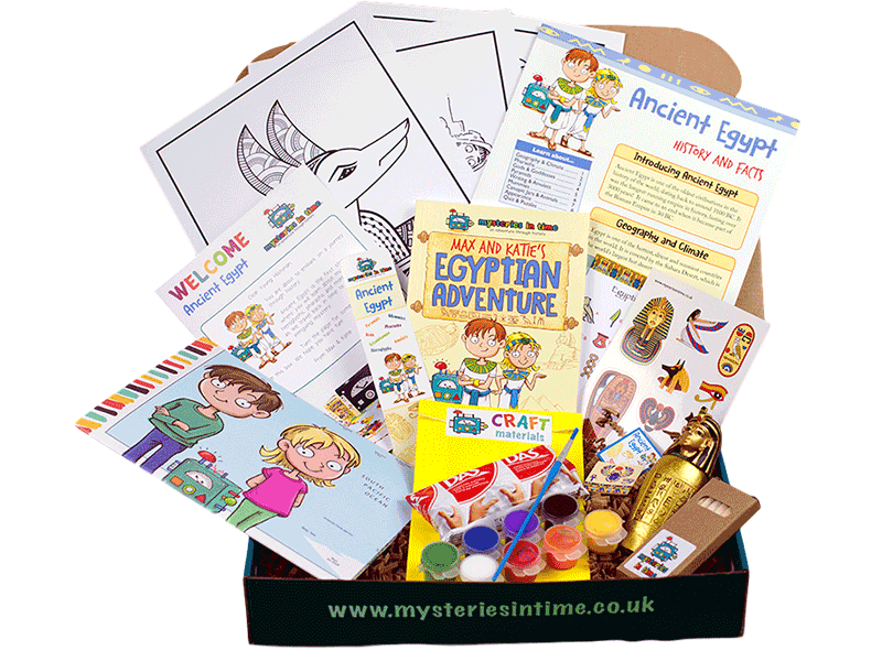 Educational subscription box for children - Ancient Egypt Bumper Box Contents