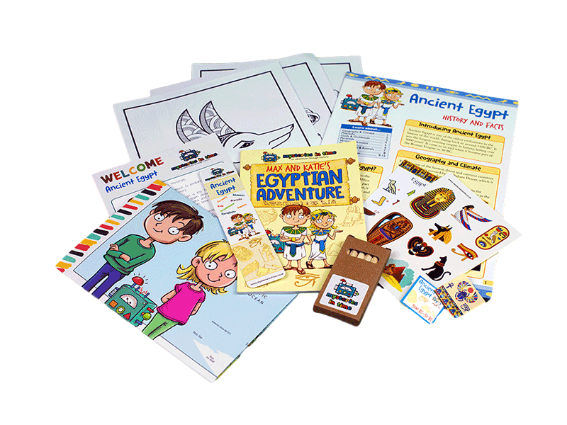 Educational subscription box - Ancient Egypt Classic Pack Contents