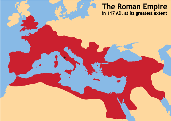 Ancient Rome Empire Map