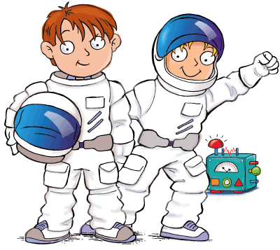 Space era for Kids Max and Katie