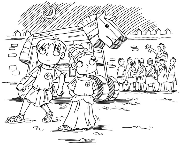 Ancient Greece for Kids Book Illustration