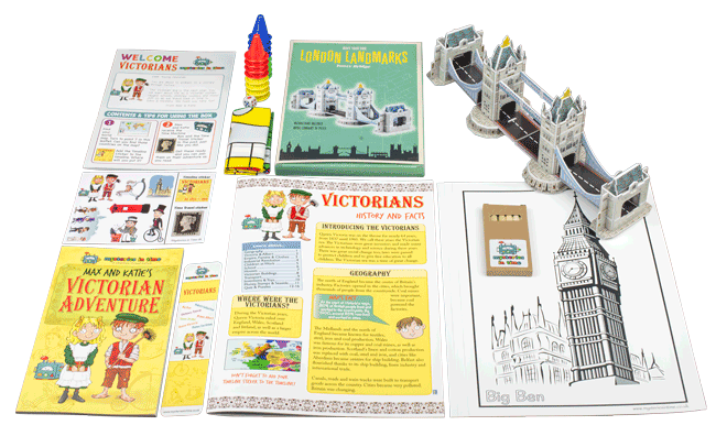 Victorian Era History for Kids Box Contents