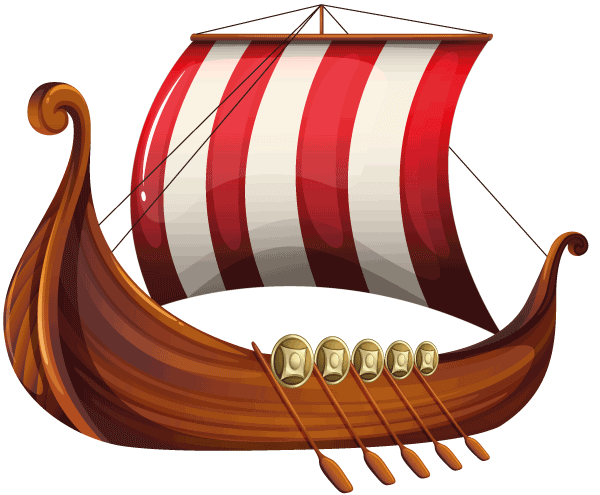 A Viking long ship