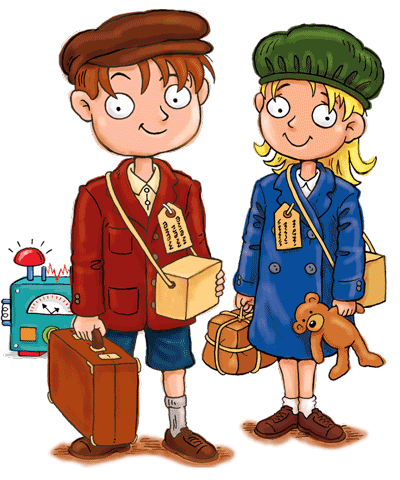 Evacuees in World War 2 History for Kids Max and Katie