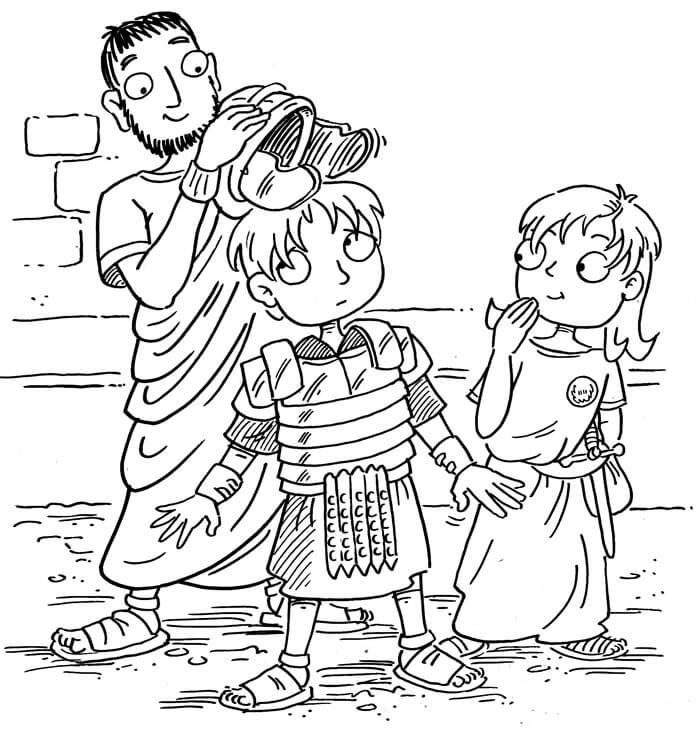 Ancient Rome for Kids Book Illustration