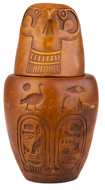 Falcon Canopic Jar
