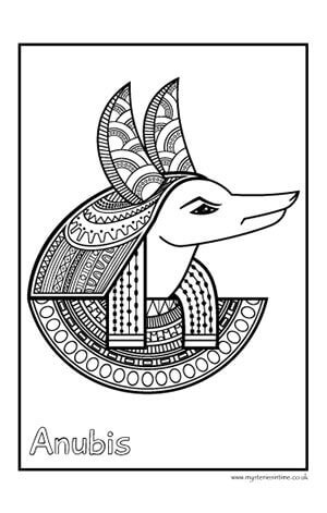 Ancient Egypt-themed Colouring Sheet