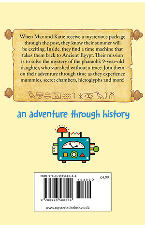 Max and Katie's Egyptian Adventure Back cover