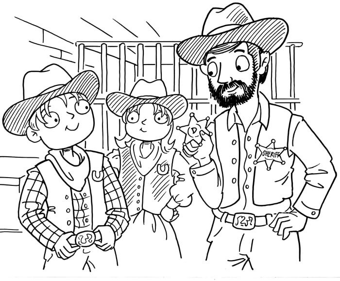 Wild West for Kids Book Illustration