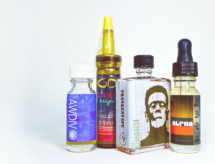 A delicious assortment of the best e-juice delivered monthly