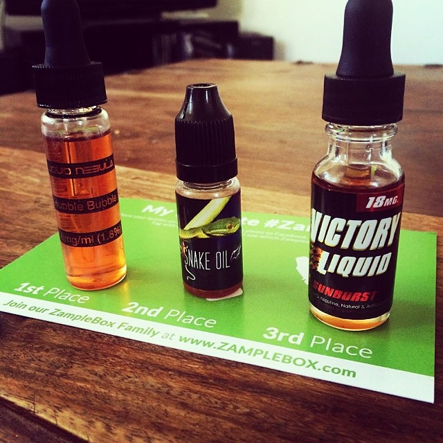 Pick your three favorite vape juices